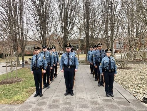 Police Officers Standing in Formation